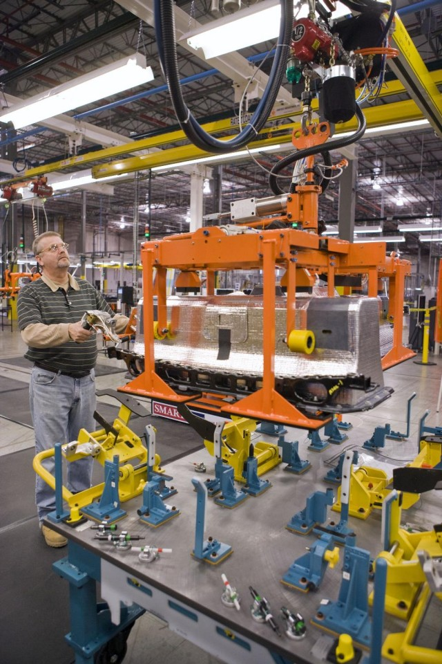 First Chevrolet Volt battery pack built at Brownstown Township plant, January 2010