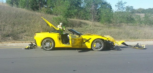 First customer 2014 Corvette Stingray crashed?