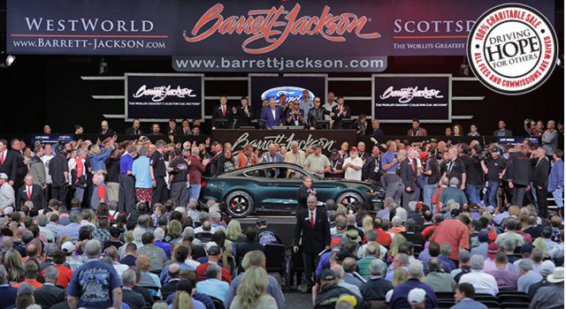 First retail 2019 Ford Mustang Bullitt at Barrett-Jackson auction
