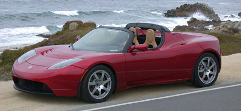 First test drive of the Tesla electric roadster