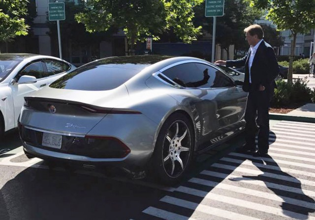 Henrik Fisker with the Fisker EMotion