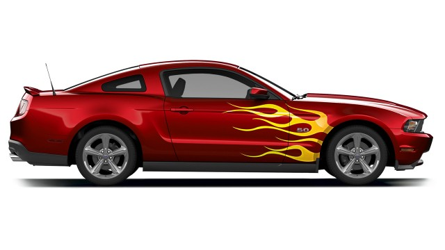 Flame Mustang