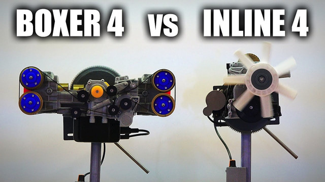 What's the difference between flat-4 and inline-4 engines?