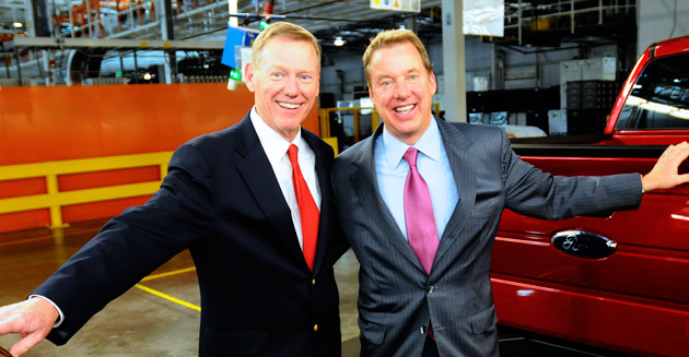 Ford CEO Alan Mulally and Chairman Bill Ford Jr.