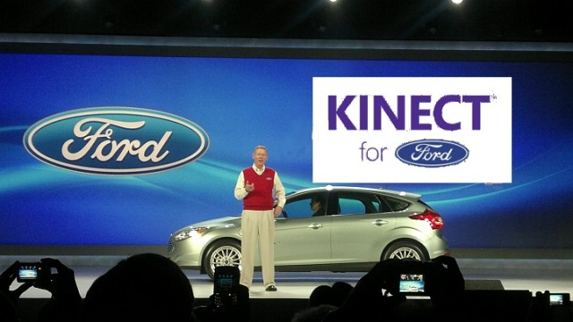 Ford CEO Alan Mulally at introductory press event for MyFord-Sync-Kinect
