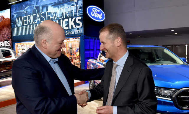 Ford and Volkswagen announce alliance to build pickups and vans