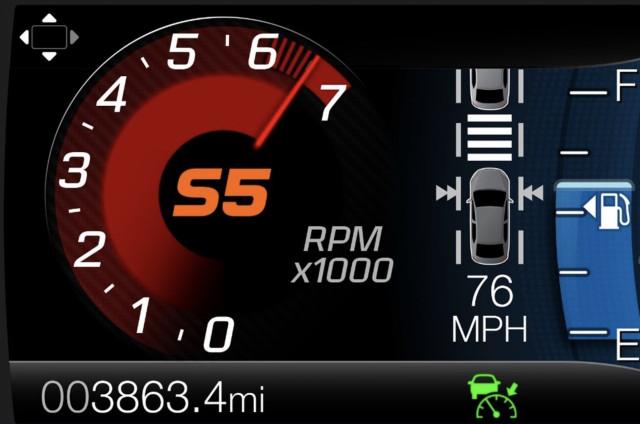 2019 Ford Edge ST Sport mode tachometer