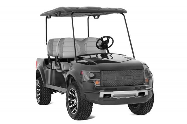 Ford F-150 SVT Raptor electric ATV by Caddyshack Golf Cars