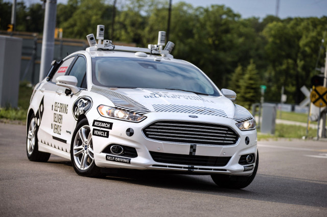 Self Driving Ford Fusion Hybrid For Domino S Pizza Delivery