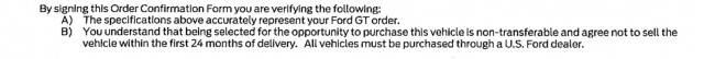 Ford GT flipping agreement