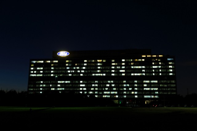 Ford headquarters lit up to celebrate Le Mans win