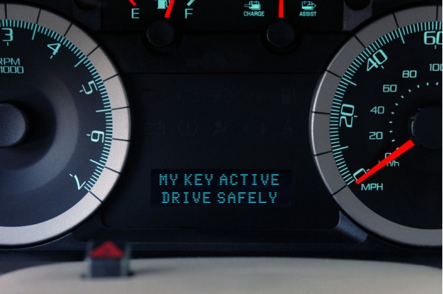 Ford MyKey Message Center-- System Active