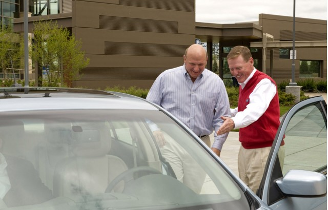 Ford SYNC 1,000,000 Unit; delivered by Mulally to Ballmer