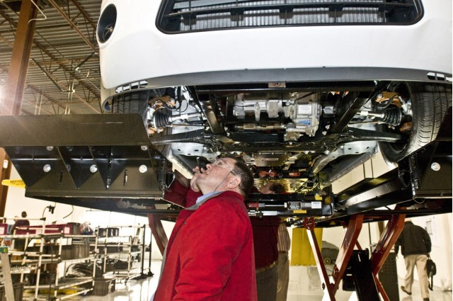 Ford Transit Connect electric van in production