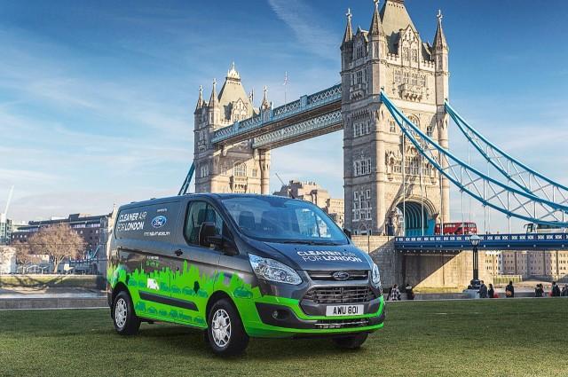 03b27fd65a Ford to test plug-in hybrid Transit Custom van in London