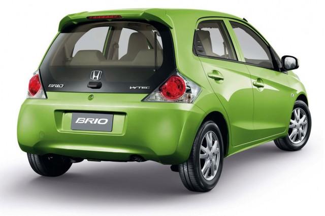 Production-spec Honda Brio minicar