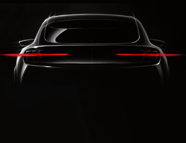 2020 Ford electric SUV teaser via Joann Muller via Michael Martinez