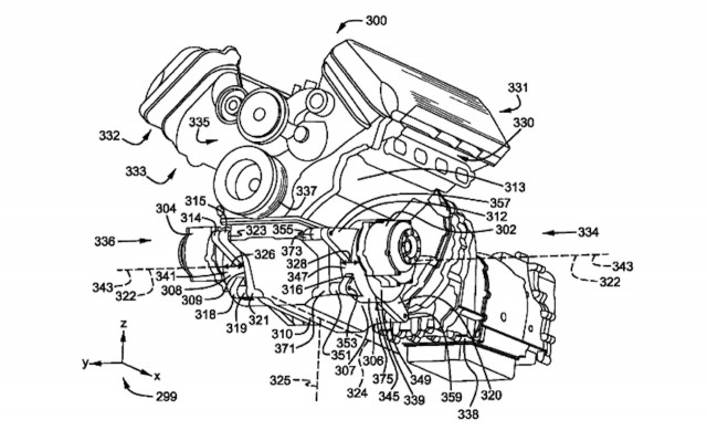 Ford hybrid V-8 engine patent
