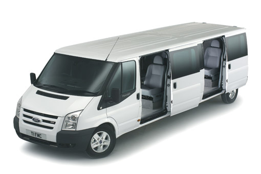 Ford's stretch Transit van XXL