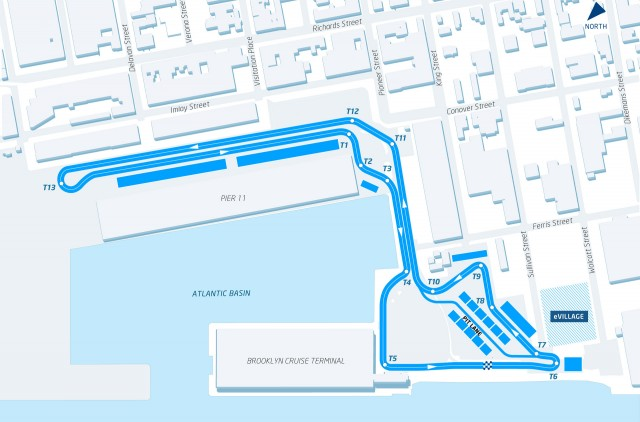Formula E New York City ePrix circuit