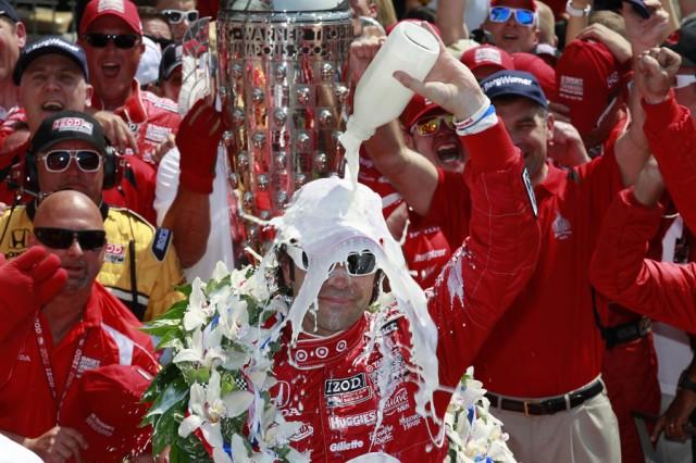 Franchitti celebrates his third Indy 500 win - Photo courtesy IZOD IndyCar Series/LAT USA