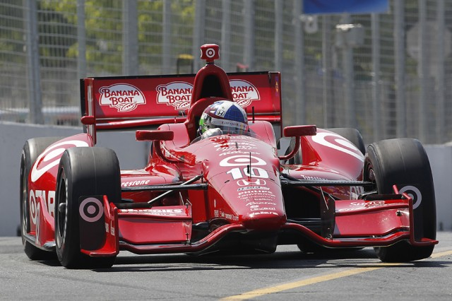 Franchitti was quickest in both practice sessions on Friday - IZOD IndyCar Series LAT USA photo