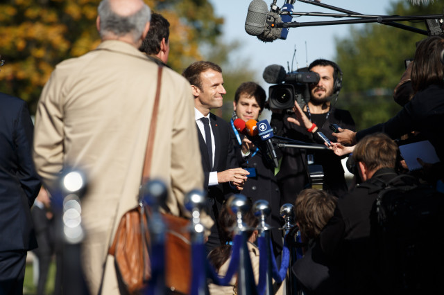 French President Emmanuel Macron announces bill to combat fake news
