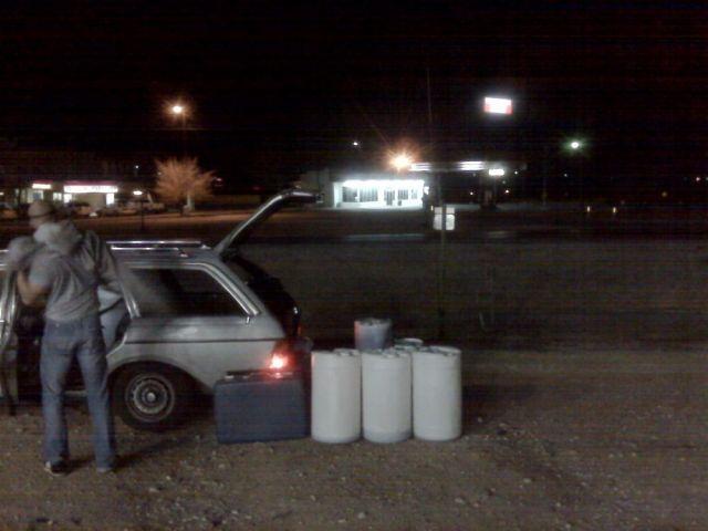 Fueling at night