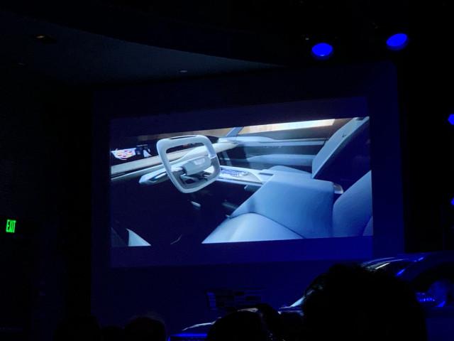 Future Cadillac long-range electric large luxury utility vehicle (rendering), 2019 Detroit auto sho
