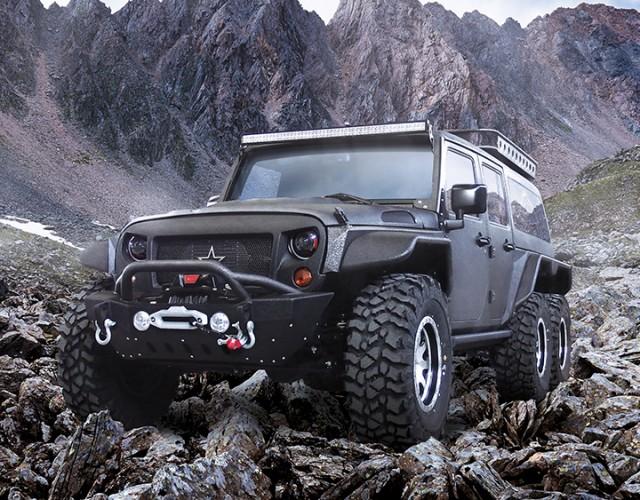 G. Patton Tomahawk 6-Wheeled Jeep Wrangler
