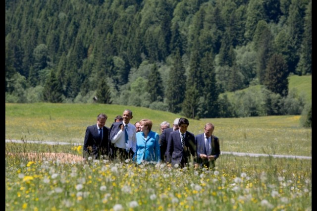 G7 leaders in Krun, Germany. White House photo by Pete Souza.
