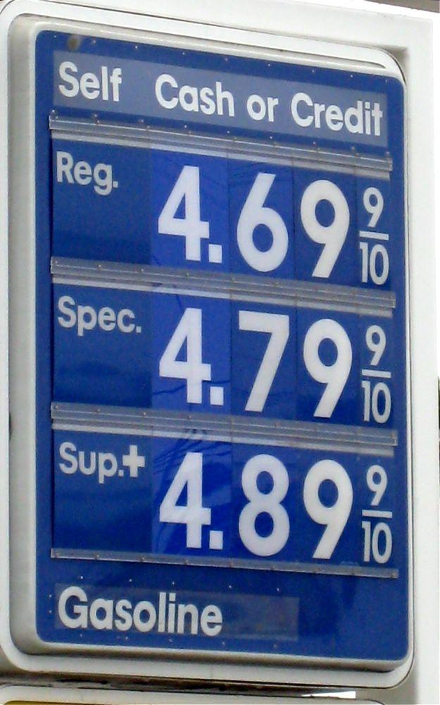 Gas At $4.89