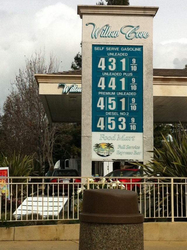 Gas prices in California [photo: Charlene Birkeland]