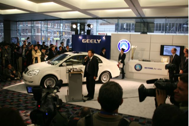 Geely Press Conference NAIAS