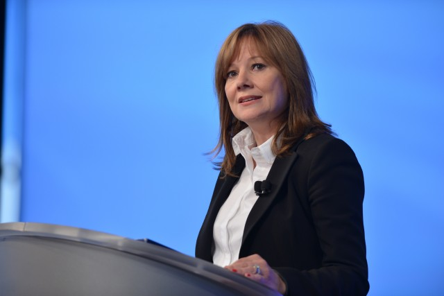 General Motors CEO Mary Barra provides an update on the ignition switch recall investigation Thursday, June 5, 2014 during a employee meeting at the GM Vehicle Engineering Center in Warren, Michigan. Barra expressed her deepest sympathies for those who lost their lives or were injured, and said GM would do the right thing and create a compensation program for victims, while doing everything within its power to prevent this problem from ever happening again. (Photo by Steve Fecht for General Motors)