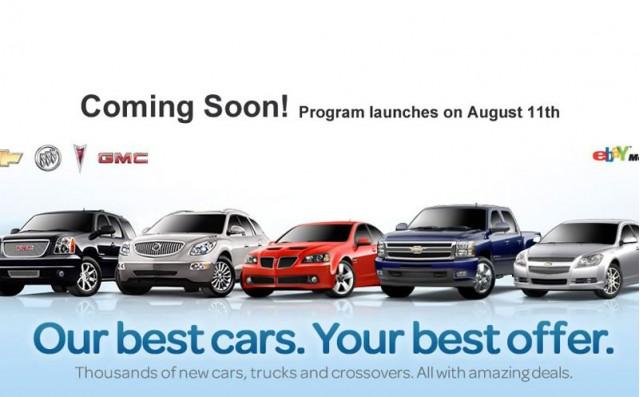 General Motors partners with eBay Motors in California