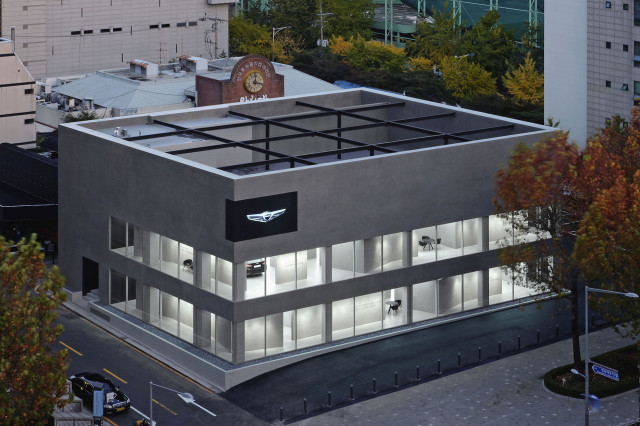 First standalone Genesis showroom in Gangnam district Seoul, South Korea