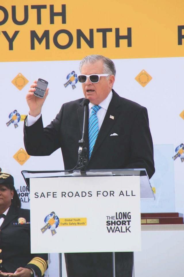 Global Youth Traffic Safety Month 2013 - U.S. Transportation Sec. Ray LaHood, Washington, D.C.