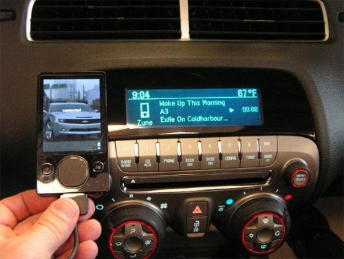 GM cars take on the Zune