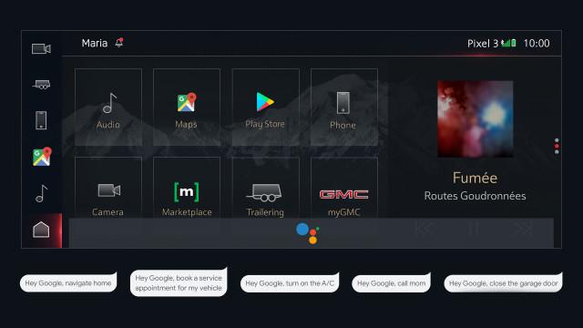 GM embraces Google voice, maps