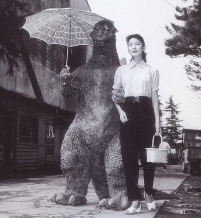 Godzilla and friend