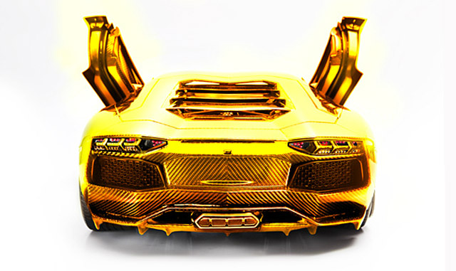 7 5 Million Solid Gold Lamborghini In Dubai Of Course