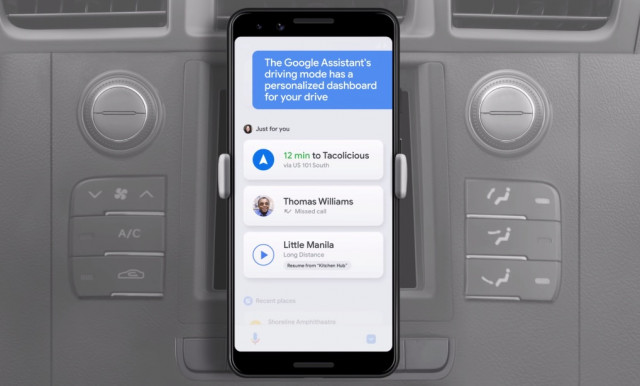 Google Assistant turns smartphones into infotainment systems