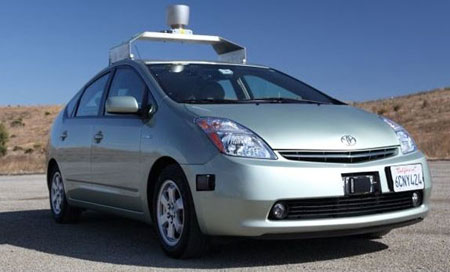 Google autonomous Toyota Prius test vehicle