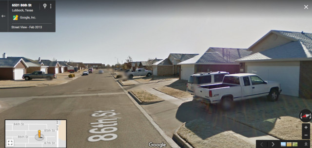 Google Street View Image, Lubbock, Texas