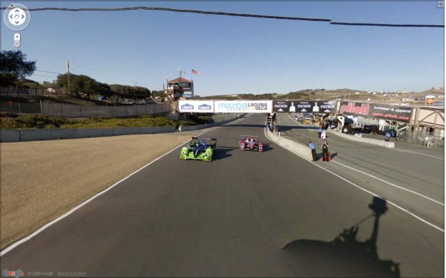 Google Street View of the Laguna Seca raceway