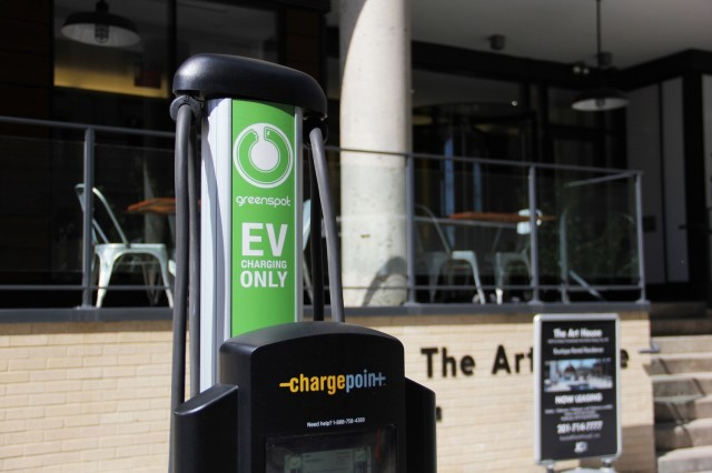 Greenspot electric-car charging station