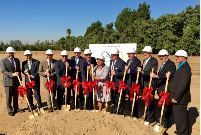 Groundbreaking at new California Air Resources Board headquarters, Riverside, CA, Oct 2017