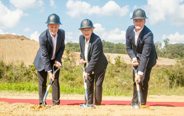 Groundbreaking ceremony for Daimler battery plant in Tuscaloosa, Alabama - October 5, 2018