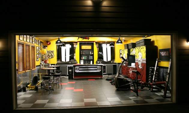Guy Fieri's custom garage